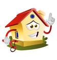 house is holding slingshot on white background vector image