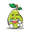 joy face pear character cartoon vector image vector image