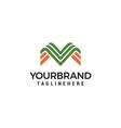 line art monogram creative logo design vector image vector image