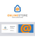 Logo and business card template for online shop vector image vector image