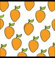 mangos pattern fresh fruit drawing icon vector image vector image