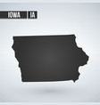 map iowa isolated on white background vector image vector image