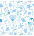 marine seamless pattern sea life vector image vector image