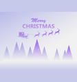 merry christmas santa claus in a sleigh vector image