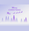 merry christmas santa claus in a sleigh with vector image vector image