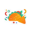 mexican taco and nachos fast food dish vector image