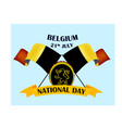 nayional day of belgium with vector image vector image