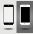New icon mobile smartphone collection iphon style vector image vector image