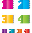 Numbers vector image