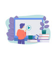 online education concept e-learning vector image vector image