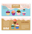 online shopping muffin flyers design vector image vector image