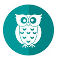 owl loving shadow vector image