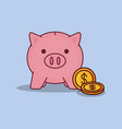piggy bank design vector image vector image