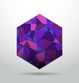 Purple polygon material design background vector image vector image