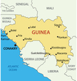 Republic of Guinea - map vector image vector image