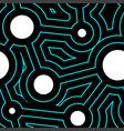 round lines and circles geometry seamless pattern vector image