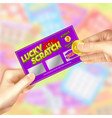 scratch lottery tickets vector image