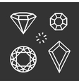 Set diamond symbol vector image