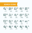 set fine line icons of vector image vector image
