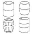 set of barrel vector image vector image