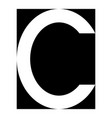 simple elegant logo letter c premium vector image