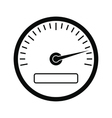 Speedometer black simple icon vector image