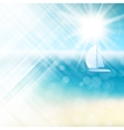 Summer sun light burst EPS 10 vector image