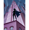 Super Heroine in City vector image vector image