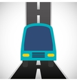 transport bus vehicle icon vector image vector image