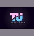 tu alphabet letter join joined letter logo design vector image vector image