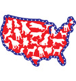 Us map and dogs vector | Price: 1 Credit (USD $1)