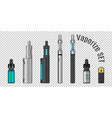 vaporize set e-cigarette tools vector image
