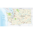 washington state road and national park map vector image vector image