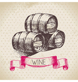 Wine vintage background vector image vector image