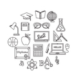 School and education outline icons set vector image