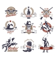 Colorful Rodeo Labels And Logos vector image