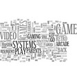 a flashback from way back text word cloud concept vector image