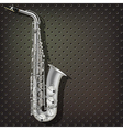 abstract music dark gray background with silver vector image vector image