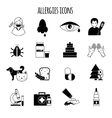 Allergies Icons Black vector image vector image