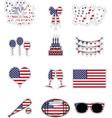 American symbols stickers style vector image vector image