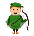 archer cartoon character vector image
