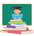 baby professor or graduating student vector image vector image