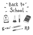 Back to school Hand drawn doodle set vector image vector image