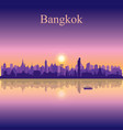 bangkok city silhouette on sunset background vector image vector image