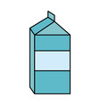 blank label milk carton icon image vector image vector image