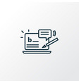 blog commenting icon line symbol premium quality vector image