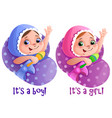 boy and girl elements for cards games vector image