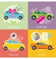 Buying car rent and loan vector image vector image