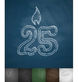 candle twenty five icon vector image vector image