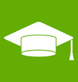 cap student icon green vector image vector image